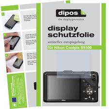 2x Nikon Coolpix S9300 Schutzfolie matt Displayschutzfolie Antireflex Passgenau