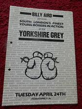 Programma Della Boxe-JONNY Baker V TONY Graham