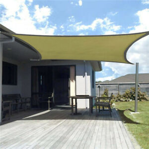 Waterproof Sun Shade Sail Patio Pool Top Cover Canopy 98% UV Outdoor Awnings