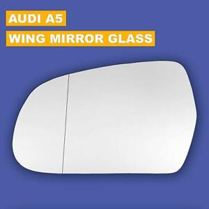 Wide angle Left side mirror Audi A5 2009-2016