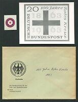 BUND FOTO-ESSAY 400 ROTES KREUZ 1963 RED CROSS PHOTO-ESSAY PROOF RARE!! e505
