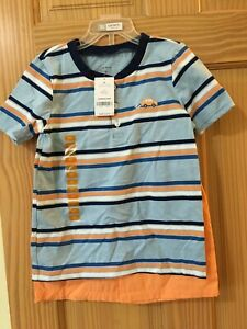NEW Carter's Boys Stripe Car Shirt & Pull on Shorts Set 2pc Blue Coral 24M,5T