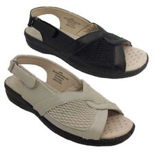 Velcro Wide (C, D, W) Solid Sandals for Women