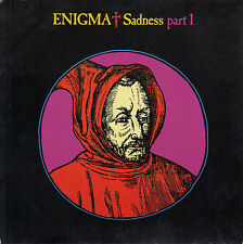"""ENIGMA Sadness Part 1 PICTURE SLEEVE 7"""" 45 rpm  record + juke box title strip"""