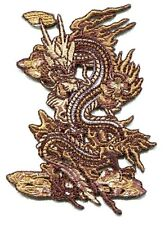 DRAGON brown dragon EMBROIDERED IRON-ON PATCH **FREE SHIPPING**