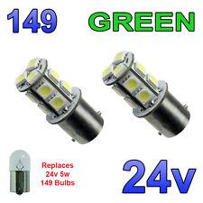 2 x verde 24V LED BA15S 149 R5W 13 SMD TARGA INTERNI LAMPADINE Mezzi Pesanti Camion