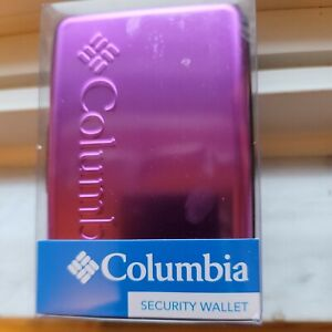 New! Columbia Metal Hard Case RFID Credit Card Holder Security Wallet