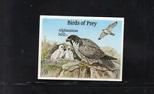 Afghanistan 2000 Birds of Prey, Peregrine Falcon Imperf  Minisheet MNH