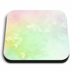 Square MDF Magnets - Rainbow Cloud Marble Effect  #14726