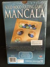 SOLID WOOD FOLDING GAME, MANCALA. BRAND-NEW.