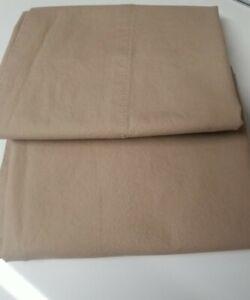 Ralph Lauren Pillowcases Tan Solid Standard. 100% Cotton EUC USA