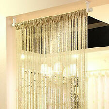 2 x String Door Curtain Window Panel Room Divider Tassel Crystal Fringe Beaded