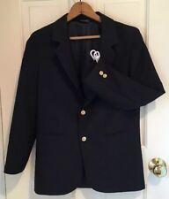 Savane Boy's Blazer Jacket Navy Blue Lined Year Round 15% Wool Hopsack Size 16