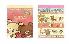 San-X Rilakkuma Mini Memo Pad 2 Packs (200 Sheets) MW17701 Registered Shipping