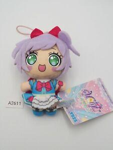 "Pripara A2611 Laala Manaka SEGA Strap Mascot Plush 4"" Stuffed Toy Doll Japan"