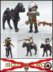 Playmobil Custom Tercios CABALLERIA ARCABUCERO Caballero Knight Soldado ESPAÑOL