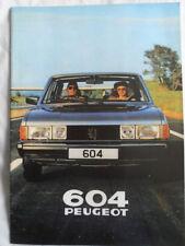 Peugeot 604 range brochure 1980