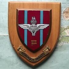 Superb Hand Painted 3 Parachute Regiment Regimental Oak Crest Shield Plaque B