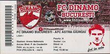 Ticket DINAMO BUCHAREST vs ASTRA GIURGIU- Romanian First League-03/10/2015