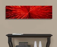 Statements2000 3D Metal Wall Art Accent Abstract Modern Red Painting Jon Allen