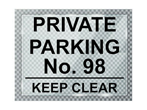A015 Custom Personalised PRIVATE PARKING ACRYLIC Plaque Sign For Door Gate House