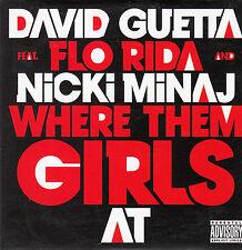 "CD SP 1 T DAVID GUETTA  ""WHERE THEM GIRLS AT""  (PROMO)"