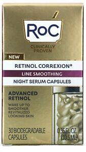 RoC Retinol  Line Smoothing Night Serum Capsules 30.New In Box!