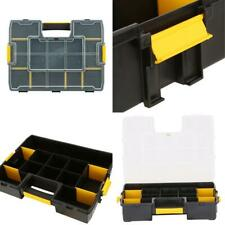 15-Compartment Small Parts Organizer Adjustable Tool Storage Carrying Case