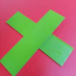 """G10: (Light) Toxic Green 1/8"""" 6"""" x 1.5"""" Scales for Wood Working, Knife"""