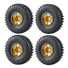 "AXSPEED 4x 1.9"" Beadlock Wheel Rims&Rubber Tires For 1:10 RC Crawler SCX10 TRX4"