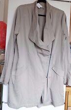 Label Lab Loc Drape Zip Asymmetric pocket Jacket sand size 14 new