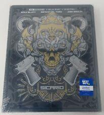 Sicario Steelbook Best Buy Exclusive 4K UHD Blu-ray Digital Sealed Blunt Del Tor