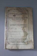 Livret National Caisse Nationale d'Epargne - RF - BOURGES - 1889