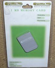 PLAYSTATION 1 PS1 PSONE 1MB Scheda di memoria 15 Blocco! Nuovo di Zecca 1 MB MEM CARD GRIGIO