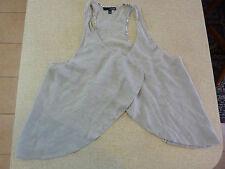 Women's LADAKH Size 8 AU Vest Grey Floral Edge As New Ladies Girls Cardigan