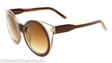 Gradient Plastic Frame Round 100% UVA & UVB Sunglasses for Women
