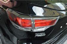 Exterior Rear tail light lamp cover Chrome Trims model for Highlander 2015 2016