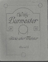 Willy Burmester : Stücke alter Meister Band 5 ~ für Violine und Klavier