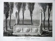 GRAVURE ORIGINALE Tomb Bonneval Ahmed Pascha Tableau Général EMPIRE OTTOMAN 1787