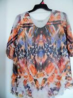 WOMEN ONE WORLD LIVE AND LET LIVE VISIBLE STONE   KNIT TOP SHIRT    SZ 1X