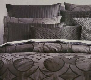 1 Pair Shams Hotel Collection Marble Geo Gray Black 100% Pima Cotton $135