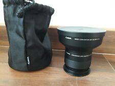 Objetivo Canon Wide Converter WC-DC58B+ Conversion Lens Adapter LA-DC58H