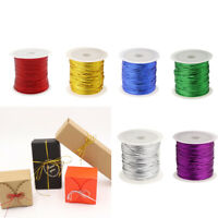6x 23m Colorful Tag Wire Banner String Gift Cord Package Ribbon for Holiday