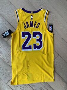 Los Angeles LA Lakers lebron James Nike vaporknit gold Jersey 40