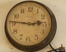 More details for  synchronome electric subsidiary wall clock - for restoration - copper surround