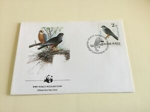 WWF Official First Day Cover , Hungary , Falcon , 1983
