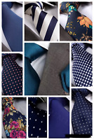 TEAL / NAVY / PETROL / DARK BLUE SILK TIE - Italian Designer Milano Exclusive