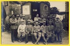 CPA Carte Photo GUERRE MILITAIRES SOLDATS Wagon Roulotte 347 TM Atelier