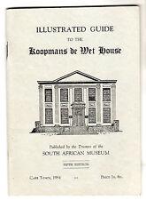 Koopmans De Wet House Illustrated Guide Cape Town 1954 South Africa