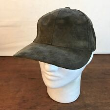 Suede Leather Soft Brown Adjustable Cap Hat CH1